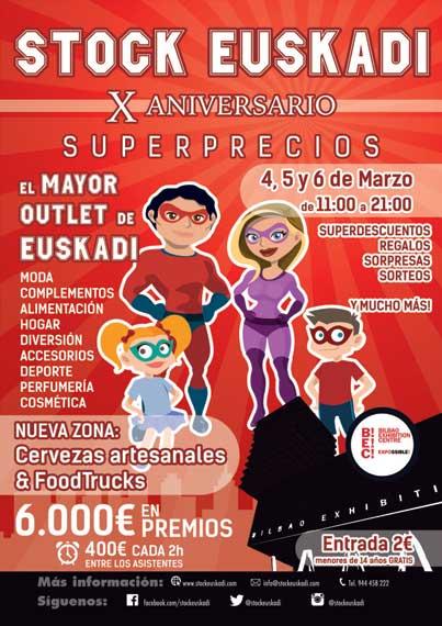 Cartel de la feria del Stock en Bilbao