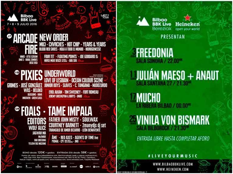 Cartel BBK Live 2016, Bilbao