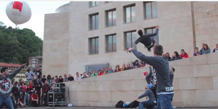 Globo del Lekuz Leku, festival de Danza de Bilbao