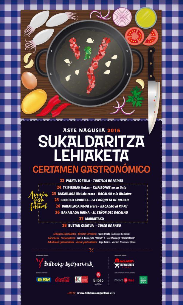 Concursos gastronómicos en la Aste Nagusia de Fiestas de Bilbao 2016