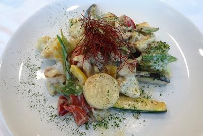 Wok de verduras de la Torre Iberdrola
