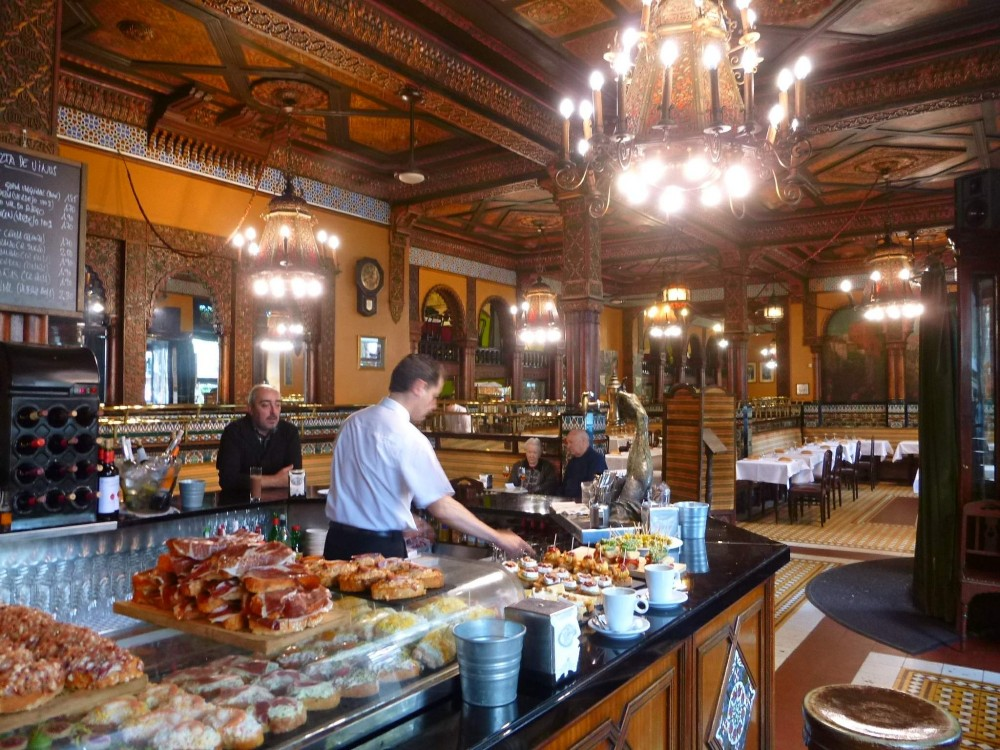 Café Iruña en Bilbao