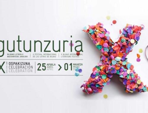 Gutun Zuria X: Azkuna Zentroa abraza el mundo de las letras – Del 24 de abril al 1 de mayo