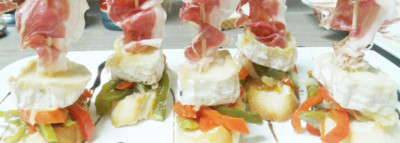 Pintxos del bar Thai Day en Bilbao