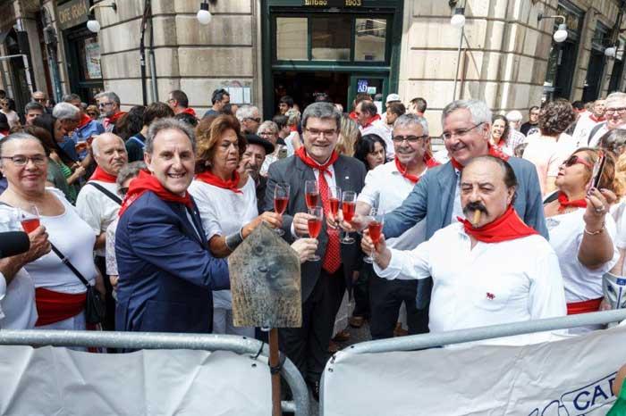 San Fermín 2017 en el Café Iruña de Bilbao
