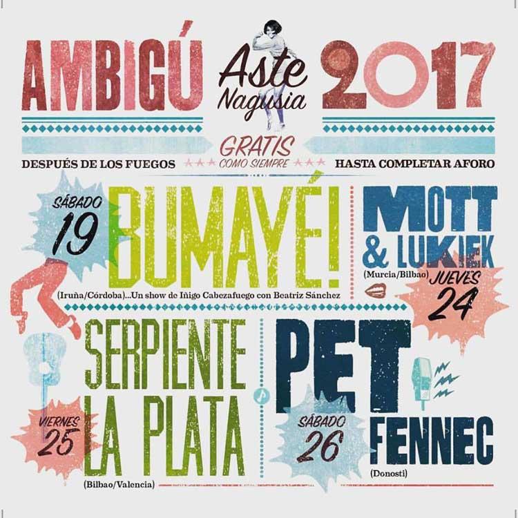 Conciertos del Ambigú en Aste Nagusia 2017