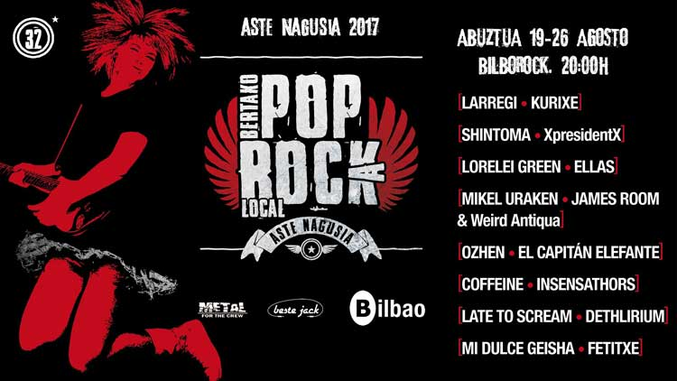 Conciertos en Bilborock en Aste Nagusia 2017
