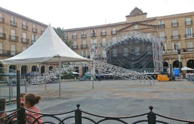 Conciertos en la Plaza Nueva de Bilbao en fiestas 2017