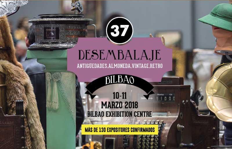 Desembalaje 2018. Feria de antigüedades en Bilbao