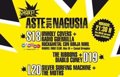 Conciertos en el Shake en Aste Nagusia 2018