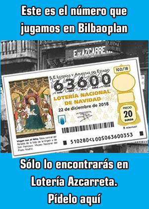 Banner de Loterías Azcarreta en Bilbao