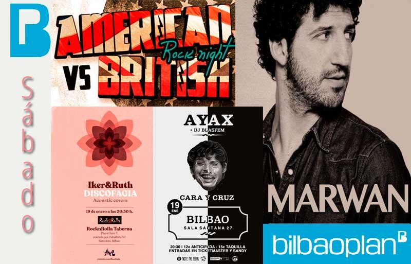 Conciertos semana Bilbao 19 enero 2019