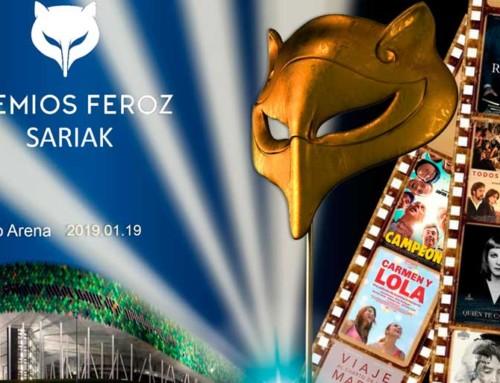Los Premios Feroz 2019 se celebran este sábado en el Bilbao Arena