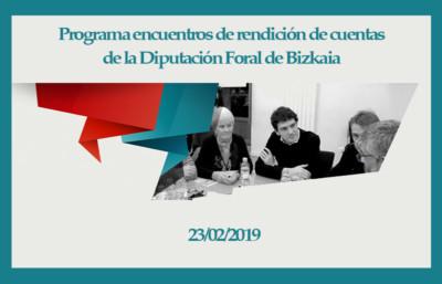 Programa Encuentros Rendición de Cuentas Diputación de Bizkaia 2019