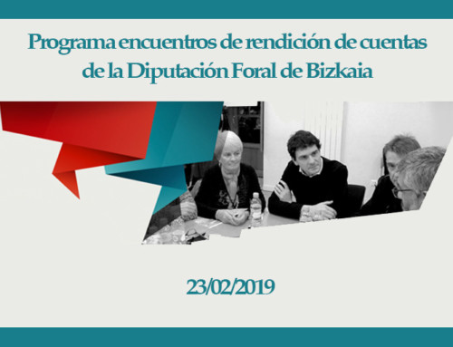 Programa encuentros de rendición de cuentas de la Diputación Foral de Bizkaia – 23 de febrero