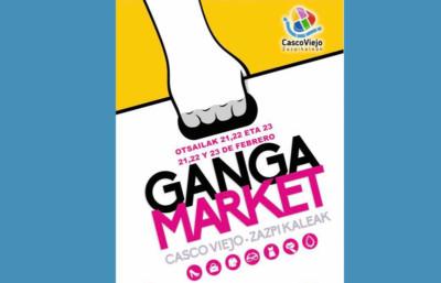 Ganga Market en el Casco Viejo de Bilbao febrero 2019