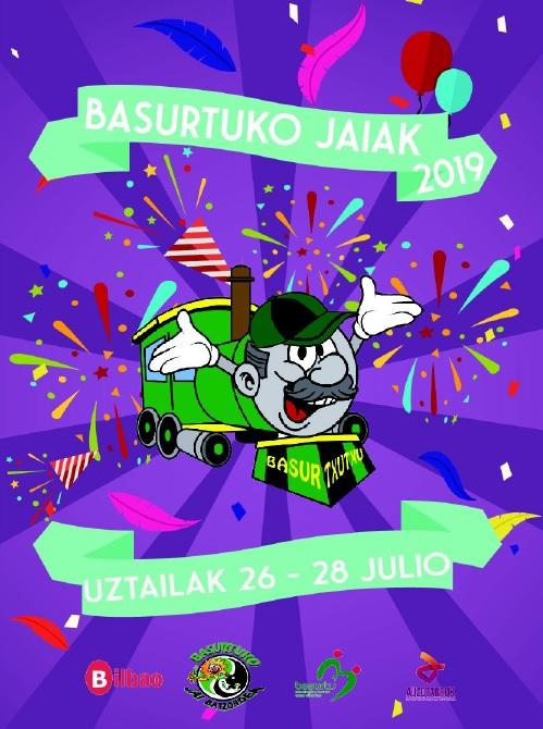 cartel fiestas de Basurto 2019