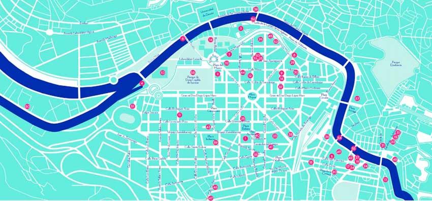 Mapa Bilbao Art District 2019