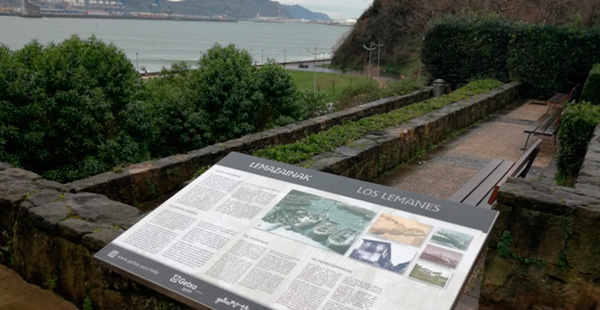 Paneles para el recorrido del Puerto Viejo Algorta Getxo