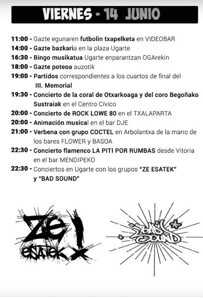 Fiestas Otxarkoaga viernes 14