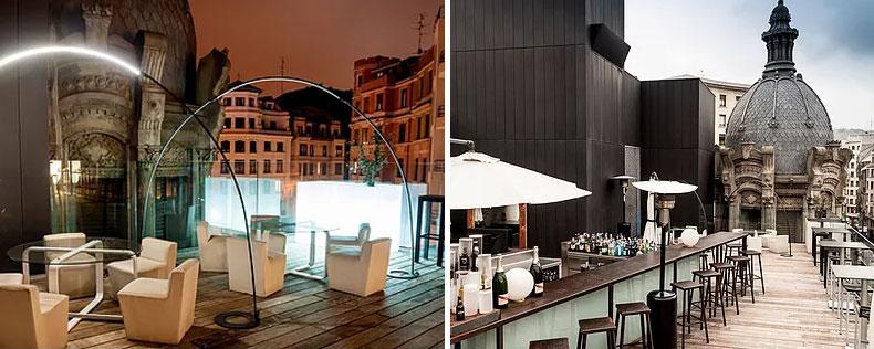 Terraza del Yandiola bar de copas en Bilbao