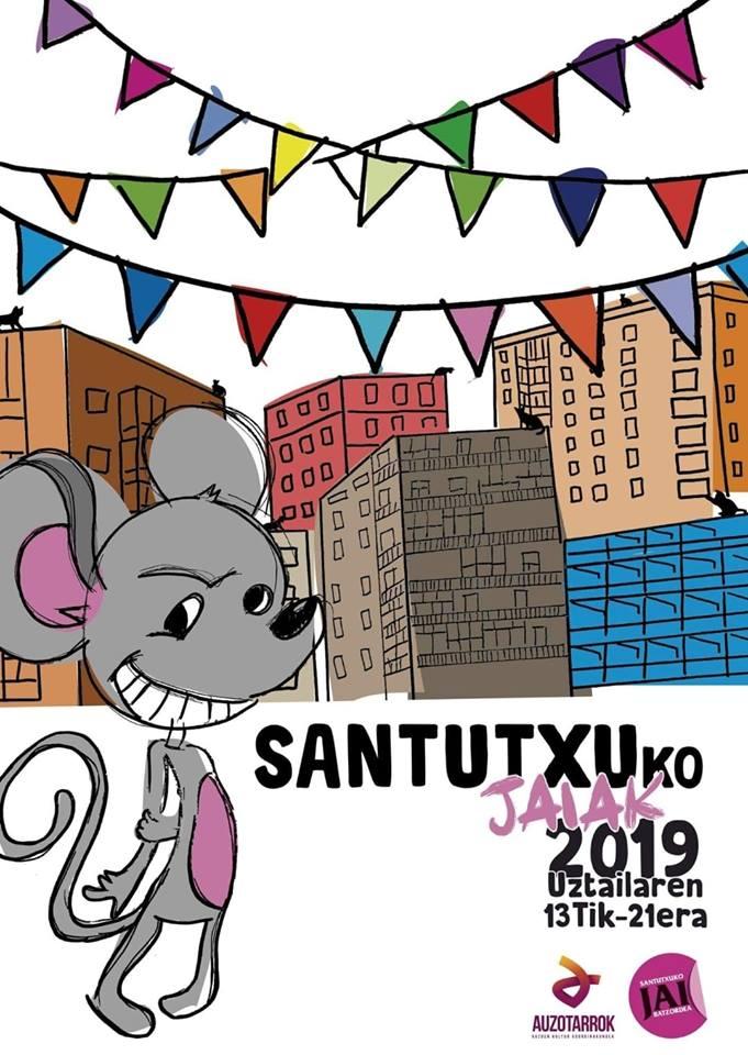 cartel fiestas santutxu 2019