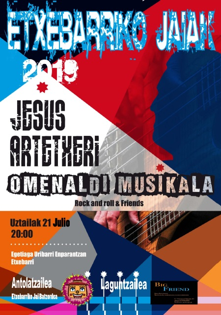 homenaje musical fiestas de etxebarri 2019
